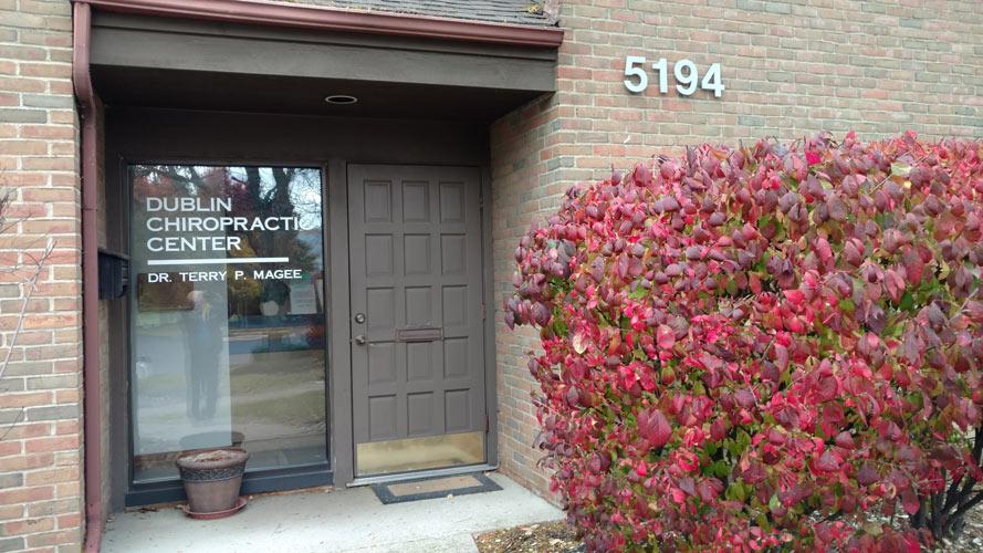 Dublin Chiropractic Center Front Door